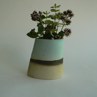 Turquoise Ceramic Vase for Flowers