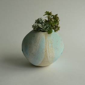 Tactile Ceramic Pebble Vessel