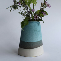 Ceramic Flower Vase in Turquoise
