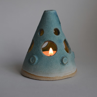 Ceramic  Candle Holder with Stars