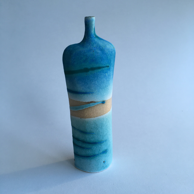 Seascape Stoneware Bottle