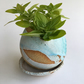 Pebble Planter with saucer