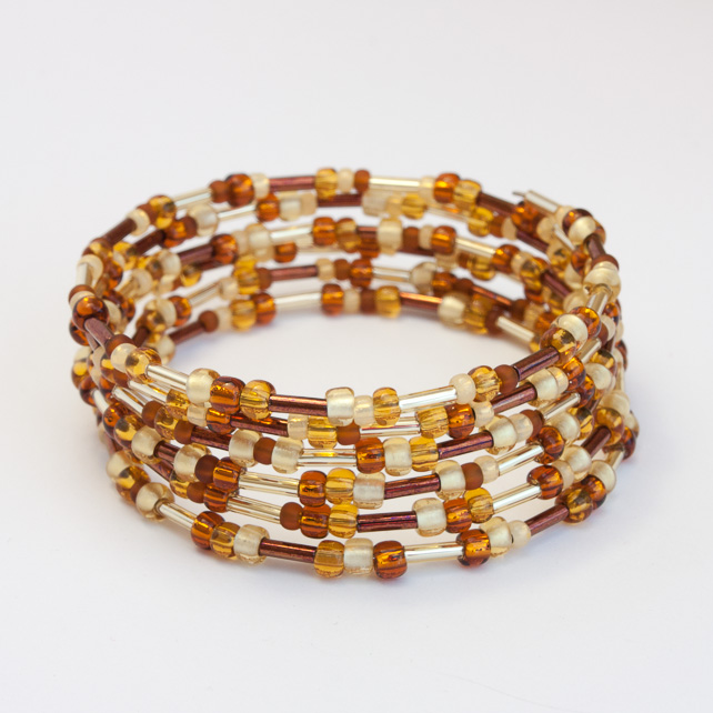 HALF PRICE! Golden Coloured Memory Wire Bracelet