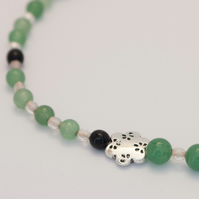 Green Aventurine and Black Onyx Necklace