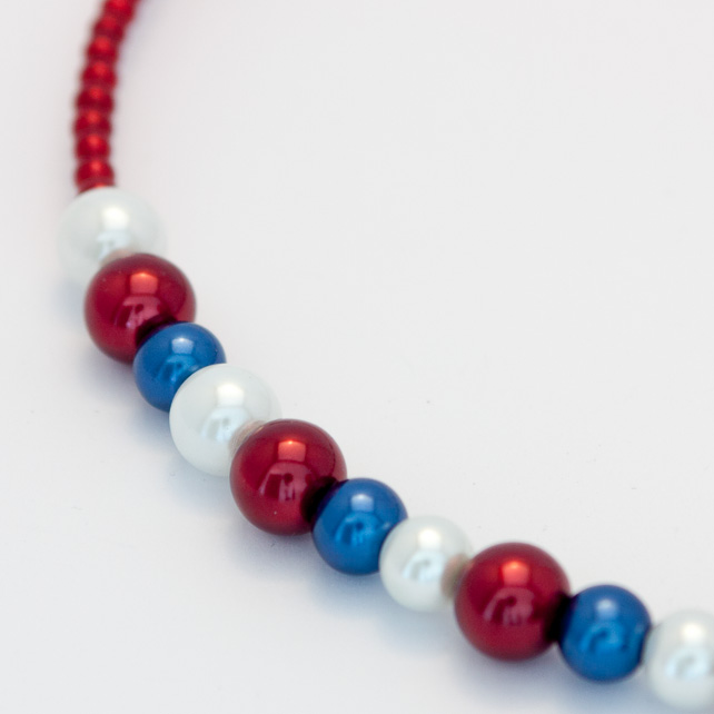 Red, White and Blue Necklace