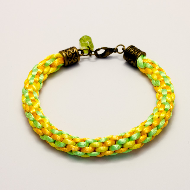 SALE! Bright Yellow Kumihimo Bracelet