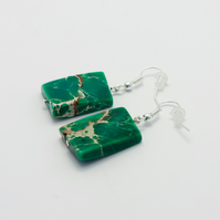 Green Imperial Jasper Earrings