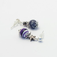 Multicoloured Malachite Earrings