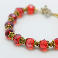 Red Glass Crystal Bracelet