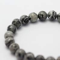 Men's Elasticated Scenery Jasper Bracelet