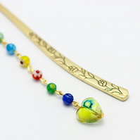 Golden and Colours Millefiori Bookmark