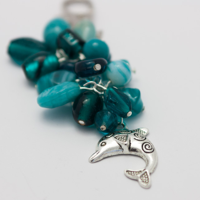SALE! Marine Theme Dolphin Bag Charm