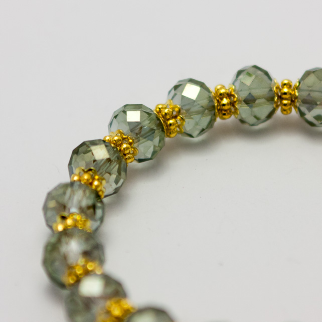 SALE! Smoky Glass Czech Crystal Bracelet