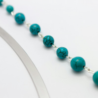 Large Turquoise Beaded Bookmark