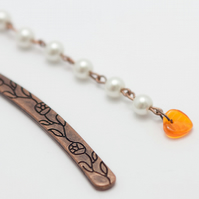 HALF PRICE! Autumn Leaf Orange Bookmark