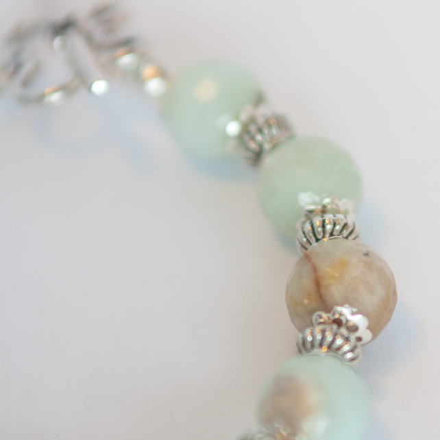 SALE! Amazonite Bracelet and Earrings Jewellery Set