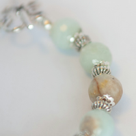 Amazonite Bracelet and Earrings Jewellery Set