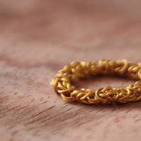 Chainmaille Gold Ring, Gold Plated Jewelry, Chainmaille Jewelry, Ringlet