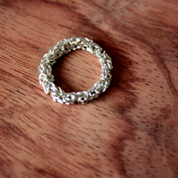 Chainmaille Silver Ring, Silver Plated Jewelry, Chainmaille Jewelry, Ringlet
