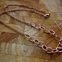 Rose Gold Chain Necklace, Over Sized Chain, Oval Links, Statement Jewellery