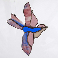 Little Bird Light Catcher - Blue & Rose-Purple