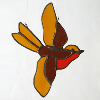 Little Bird Light Catcher - Amber, Brown & Red