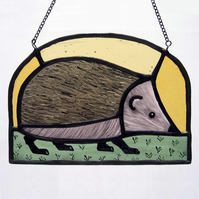Hedgehog Stained Glass Light Catcher
