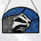 Badger & Bluebells Stained Glass Light Catcher