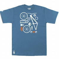Setup® DirtSetup Bike T-Shirt in Steel Blue