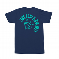 Setup® Diamond Cycling T-Shirt in Navy Blue