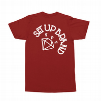 Setup® Diamond Cycling T-Shirt in Red