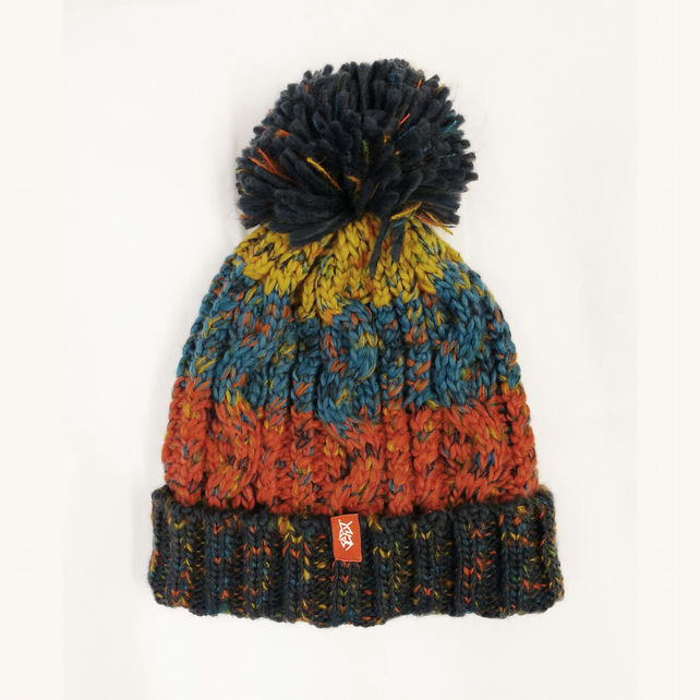 Setup® HighPeak Knitted Bobble Hat in Bracken