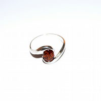 sterling silver earrings with honey baltic amber