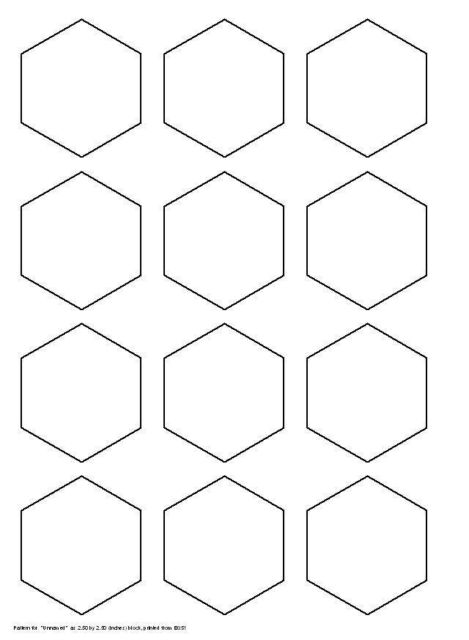Hexagon quilting template tips for cutting hexagon for Hexagon templates for quilting free