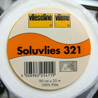 50cm Vilene Soluvlies 321 Solufleece Water Soluble Machine Embroidery Stabiliser