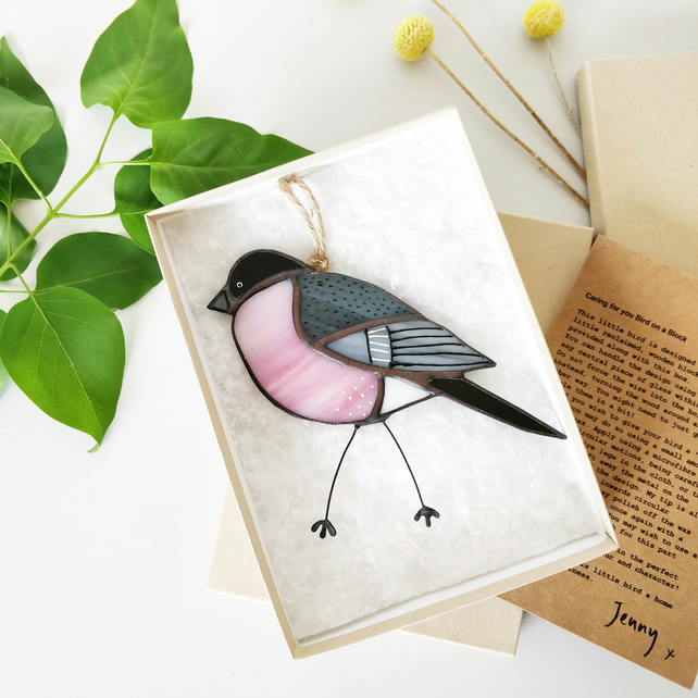 Bullfinch Glass Illustration