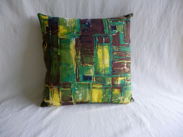 1960s vintage fabric cushion cover