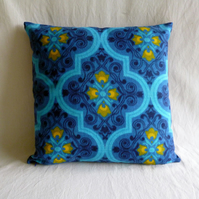 1970s vintage barkcloth cushion cover