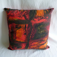 1960s vintage Francis Price fabric cushion cover