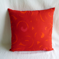 1960s Scandiavian  vintage fabric cushion cover