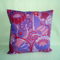1960-70s  vintage fabric cushion cover