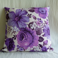 1970s vintage funky floral cushion cover