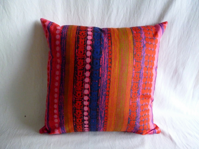 1970s vintage stripey cushion cover
