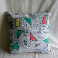 1950s vintage atomic fabric cushion cover
