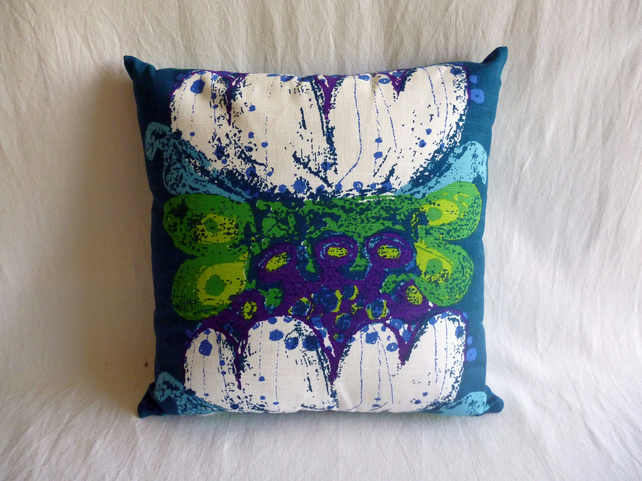 1960s vintage Scandinavian fabric cushion cover