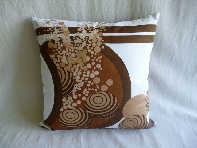 1960s vintage Heals fabric cushion cover