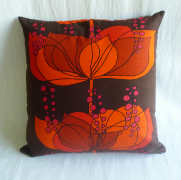 Vintage 1960s Scandinavian  fabric cushion cover