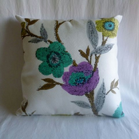 1960s vintage floral cushion cover