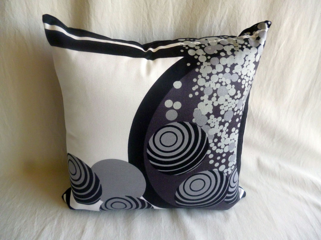 "1960s vintage Heals ""Ikebana"" fabric cushion cover"
