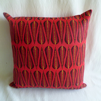 1950s vintage woven fabric cushion cover